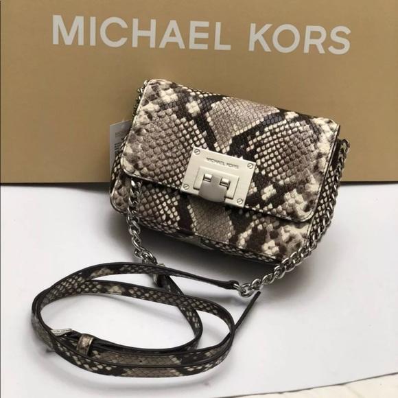 44757d323d47 Michael Kors Bags | Authentic Python Crossbody Bagclutch | Poshmark